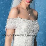 Вышитое мантии венчания Applique платье венчания шикарной без бретелек сексуальное