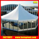 Tente de Carpas de pagoda d'hexagone de mur en verre pour l'événement de noce