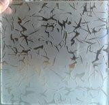 Vidro padrão entalhado ácido