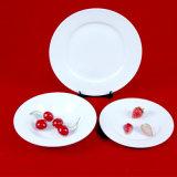 Piatto bianco impresso di ceramica degli articoli per la tavola poco costosi
