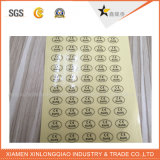 Escritura de la etiqueta transparente auta-adhesivo impermeable de encargo modificada para requisitos particulares de la etiqueta engomada