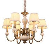 Wholesale Retail (SL2253-8)のための自然なMarble Iron Metal Chandelier
