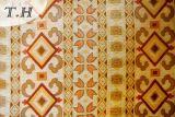 com um teste padrão da simetria, pano amarelo do sofá do jacquard do Chenille (FTH31715)