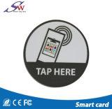 Paper/PPS/Pet/Plastacの3mのステッカーが付いている印刷できる13.56MHz反金属RFIDの札