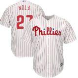 Capretti Filadelfia Phillies 17 Rhys Hoskins delle donne degli uomini 27 pullover bassi freddi di baseball dell'Aaron Nola