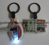 LED Keyring/LED Keychain 또는 플라스틱 열쇠 고리 또는 Keychain 또는 주문 열쇠 고리 또는 Keychain