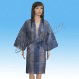 Nichtgewebter wegwerfbarer Kimono-Bademantel, BADEKURORT Kimono, Sauna-Kimono