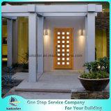 ライト現代24の曖昧な汚されたマホガニーの木製のPrehungの前ドア
