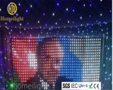 Farbenreicher Hochzeits-Hintergrund-Dekoration-Vorhang des LED-Stern DJ-Anblick-Vorhang-P5cm