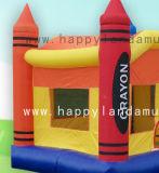 Надувные красочные замок в стиле Bouncer ножкой зуба для переходов