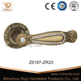 Traitement de levier en bois en alliage de zinc monté par diamant de luxe de porte (Z6188-ZR11)