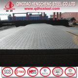 A36 St37-2 S235jrのスリップ防止床によって電流を通されるチェック模様の鋼板