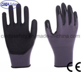 Guantes de trabajo industriales protectores de trabajo cubiertos nitrilo de la seguridad