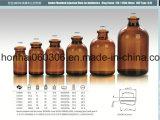 tipo II y III de 100ml USP frasco moldeado ambarino del vidrio de la inyección
