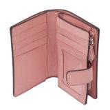 Yc-W003 de klassieke Kunstmatige Bovenkant van de Houder van de Kaart van het Leer Saffiano Geschat Dame PU Korte Portefeuilles