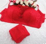Elegante cubierta de encaje de pecho de lencería sujetador conjunto para señoras sexy (EPB264)