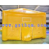 Extérieur imperméable à l'eau de PVC d'usager de famille de jaune gonflable portatif de tentes