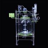 Reattore di vetro di doppio strato di Heb-20L/reattore di vetro rivestito con il bagno di circolazione del riscaldamento 30L