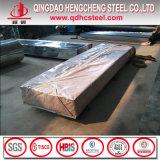 Hoja de metal revestida prepintada del material para techos del color acanalado de la hoja