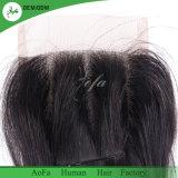 2018 Double desenhada cabelos indiano Remy Fecho de cabelo humano