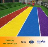 Blau + Rot + Gelb + rote Farbe Nusery künstlicher Gras-Rasen für Kindergartin