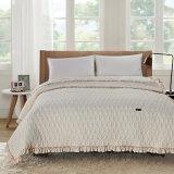 Hometextile a estampé le couvre-lit gris de tissu de Microfiber de couverture de lit réglée d'édredon