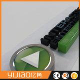 Frontlit LEDの文字の印、アクリルはLEDに文字を入れる