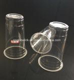 O plástico descartável coloca copos de 13oz PP com a tampa sem impressão do logotipo da tampa