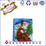 Bolsas de papel baratas grandes del arte de la Navidad