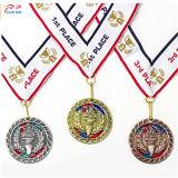 金張りの大きいスコットランド人の実行の金属メダルをカスタマイズしなさい
