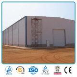 Structure métallique de modèle d'entrepôt en acier préfabriqué élevé de lumière