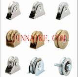 4 жестких пластмассовых (UHMW) V-образную канавку колеса с помощью бронзовой втулки литника или забор, цинк шкив