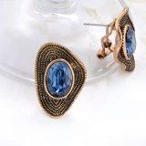 Retro Oorring van de Nagel van het Kristal van de Stijl 18K Goud Geplateerde voor Dames