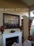 De met de hand gemaakte Olieverfschilderijen van de Boten van de Kunst van het Canvas