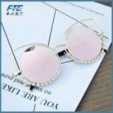 Солнечные очки рамки металла солнечных очков глаза кота для женщин