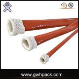 Haute résistance à la température d'isolation en fibre de verre recouvert de caoutchouc de silicone manchon coupe-feu pour le flexible hydraulique