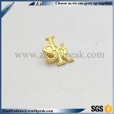 2018年の中国の製造業者の安いカスタム金属の金の文字の折りえりピン