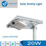 lámpara de detección solar de movimiento de la luz del jardín de la calle de 20W LED