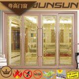 Porte coulissante s'arrêtante de offre d'aluminium d'usine en aluminium de produit de Foshan