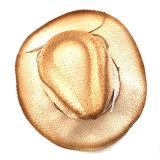 方法夏のわらのRaffiaの帽子