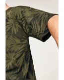 T-shirt tropical d'impression en jacquard
