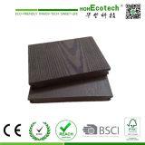 Decking composé en plastique en bois d'horizontal de Plantform de sensation normale employée couramment