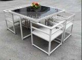 Mtc058現代デザイン庭の藤のダイニングテーブルの屋外一定の立方体のテラス