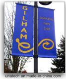 Promoción de poste ligero de calle del metal que hace publicidad del sostenedor de la bandera (BT47)