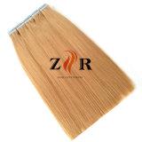2音色の人間の毛髪の拡張の自然な引かれたインドの毛テープ