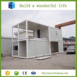 Plegable hacia fuera las casas de la casa prefabricada de la casa del campo del envase de la estructura de acero