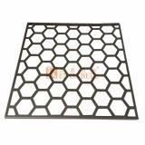 Strato di alluminio perforato con i fori normali di esagono per la decorazione della parete