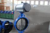 Tipo válvula da bolacha de borboleta atuada pneumática com ISO Wras do Ce aprovado