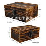 La artesanía de joyas de madera Caja de almacenamiento con cerradura y llave