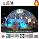 祝祭のための美しいアルミニウムフレームの半分球のテントの構築のテント